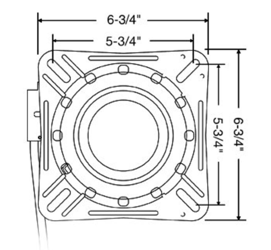 Plattenspieler mit Lock schwarz beschichtetem Stahl