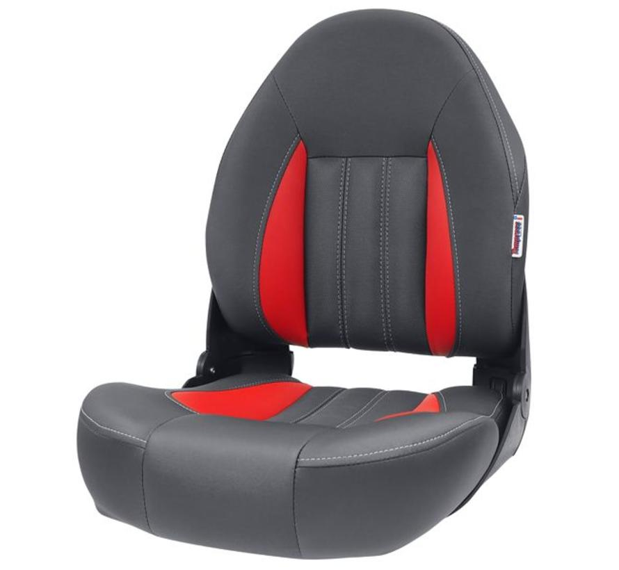 ProBax® High back boat seat Red / Gray