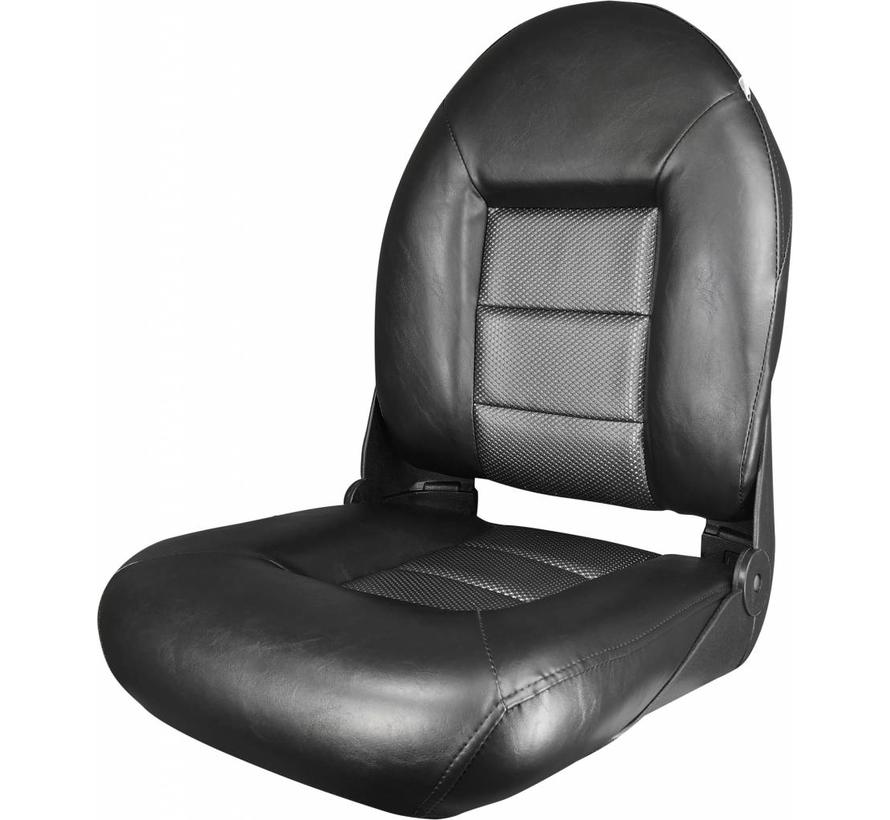 Navi Style ™ Hög Back Boat Seat Black / Wave Rocket