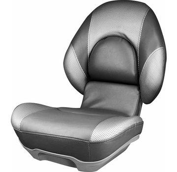 Tempress Hoge rug bootstoel Tempress® Centric™ II Donkergrijs / Liquid Wave Silver