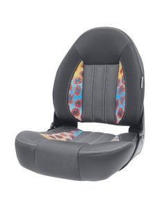 Tempress ProBax® High back boat chair Charcoal / DeYoung Trout