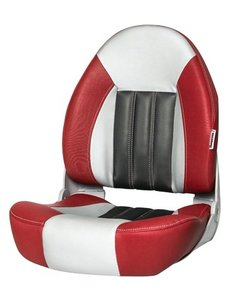 Tempress ProBax® High back boat chair Red/Gray/Carbon