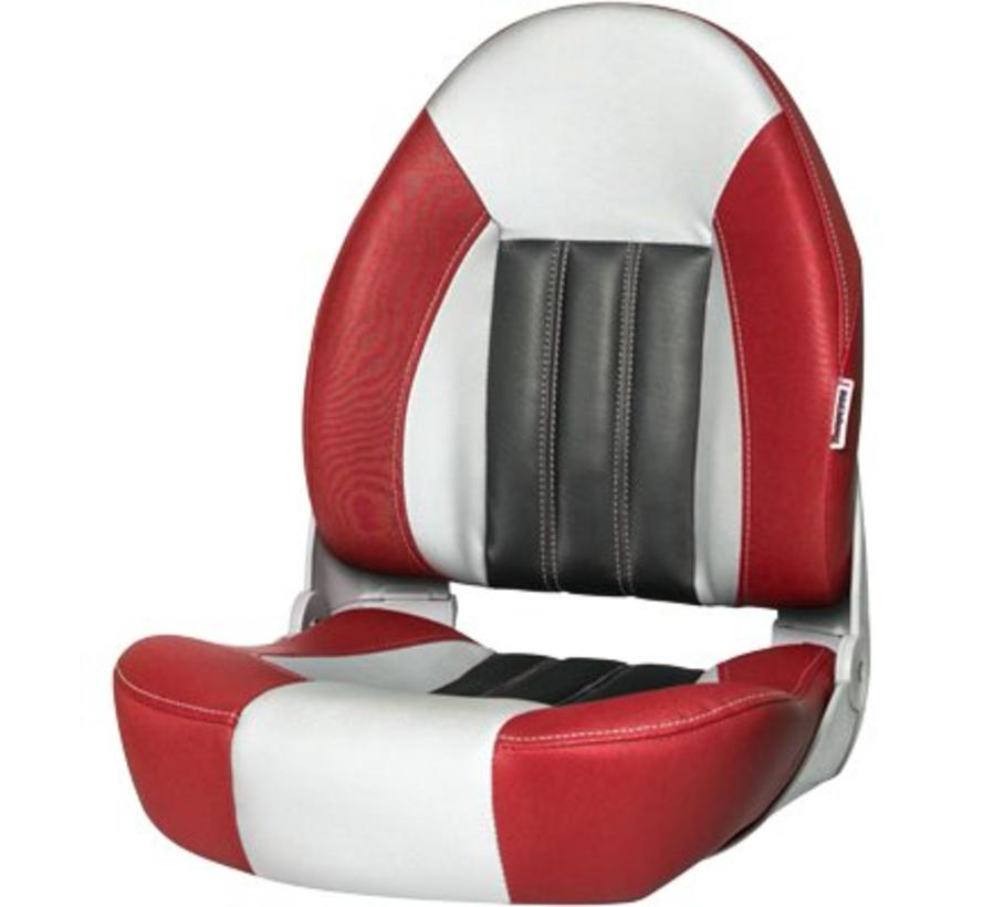 ProBax® High back boat chair Red/Gray/Carbon