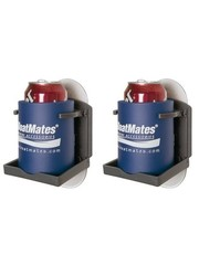BoatMates Drinkholder Graphite Twin Pack Graphite, 2 stuks