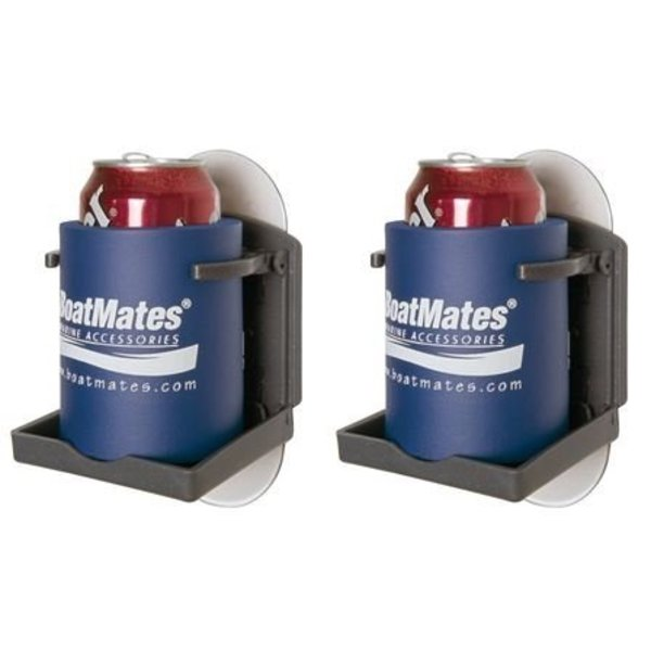 BoatMates Drink Holder Graphite Graphite Twin Pack, 2 pieces