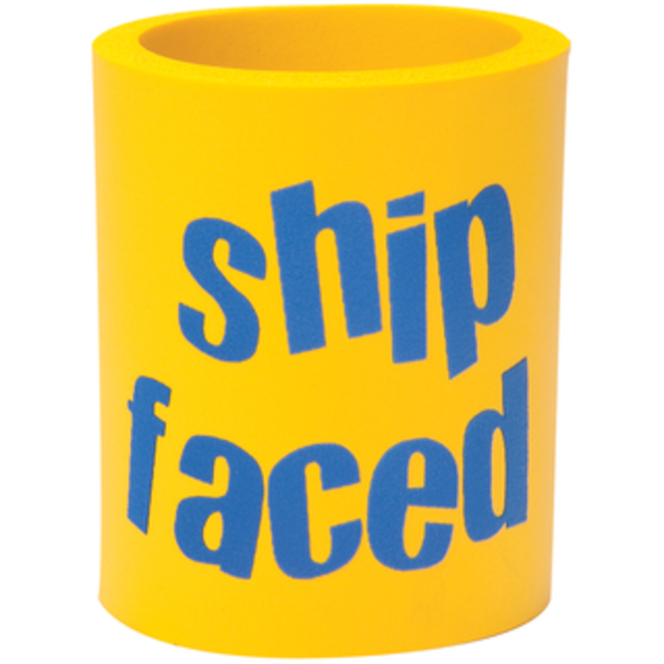 BoatMates Can Cooler Shipfaced Yellow/Blue