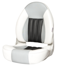 Tempress ProBax® High back boat seat White/Gray/Carbon