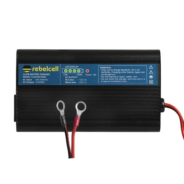 Rebelcell Battery charger 12.6V10A Li-ion