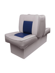 Eggers Back to Back Boat Seat Gray/Blue