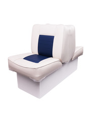 Eggers Back to Back Boat Seat White/Blue