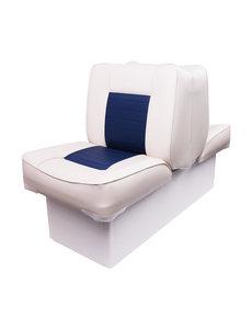 Eggers Back to Back Boat Seat White/Blue