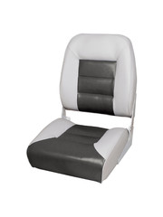 Eggers Comfort High Back Boat Seat Gray/Charcoal