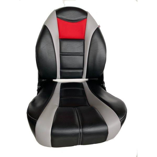 Tempress ProBax® Hoge rug Bootstoel Edge Black/Gray/Black/Red
