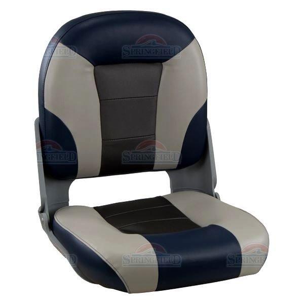 Springfield Premium-Skipper Boot Stuhl Grau / Blau