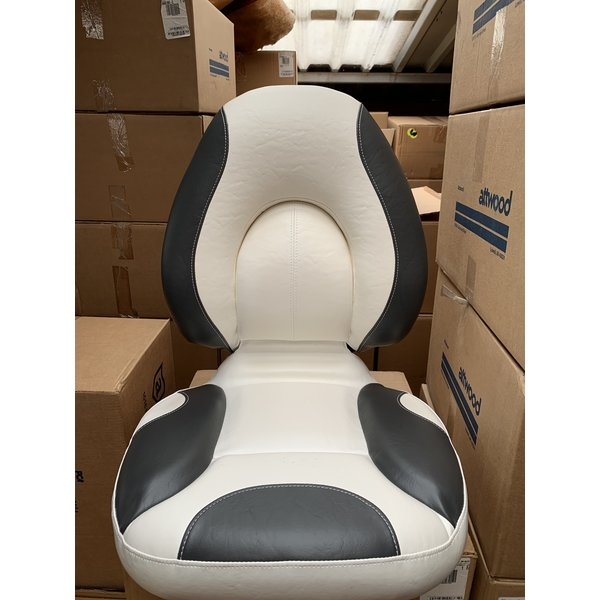 Attwood Centric SAS Fully Upholstered Bright White/Charcoal