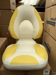 Attwood Centric SAS Fully Upholstered Bright White/Yellow
