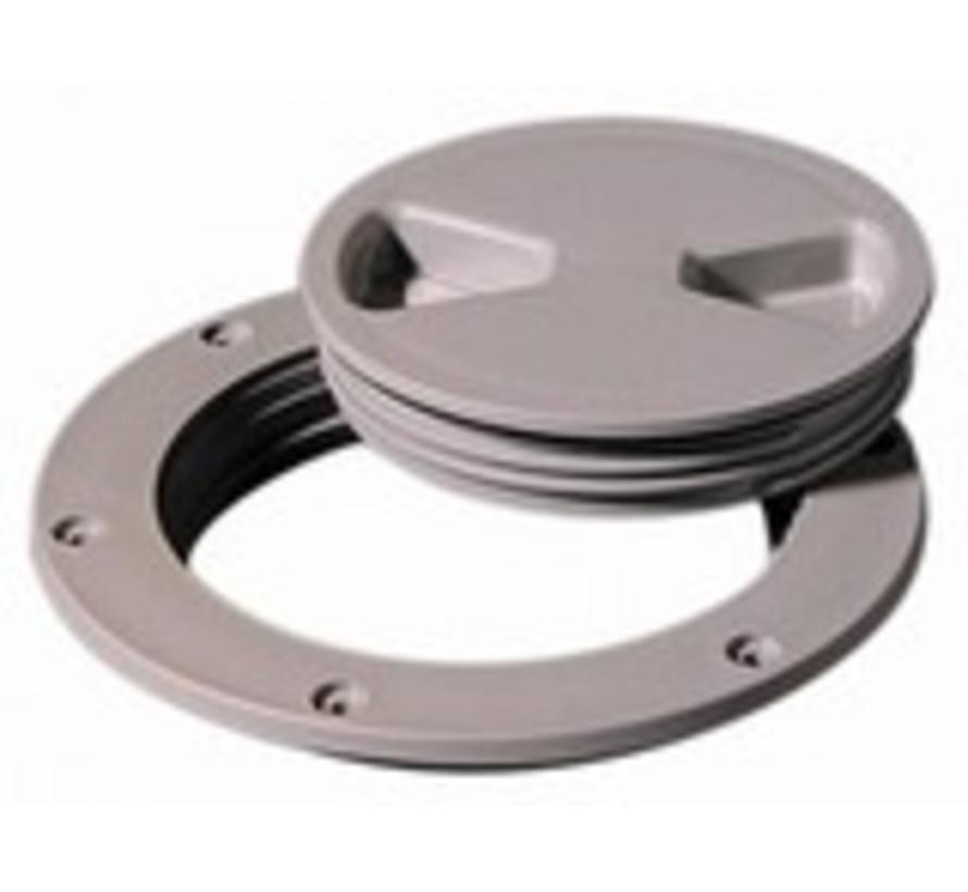 "Deck Plate Dark Gray 4"" Screw Out"