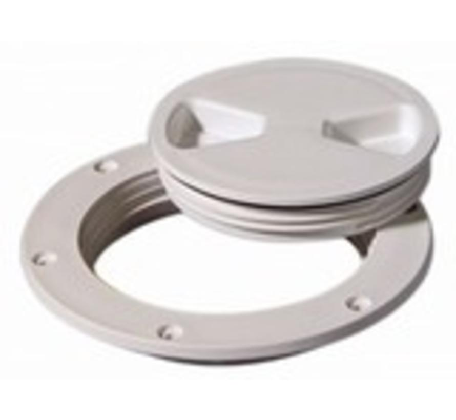"Deck Plate White 8"" Screw Out"