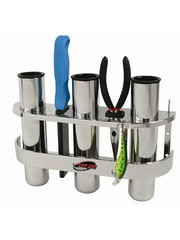 Fish-On! Stainless Steel Triple Rod Holder