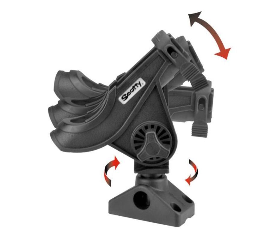 280 Baitcaster / Spinning Stangenhalter mit Seiten / Deckbefestigung (241)