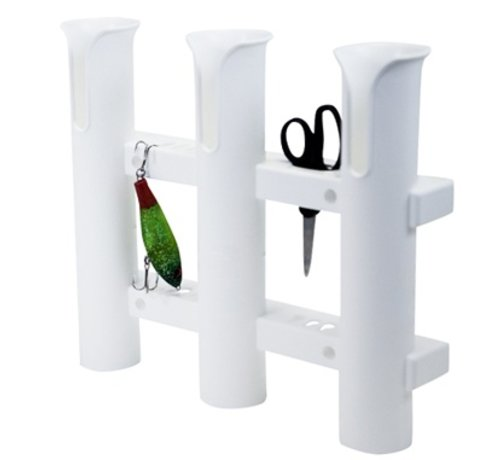Fish-On! Tube Triple Rod Holder White