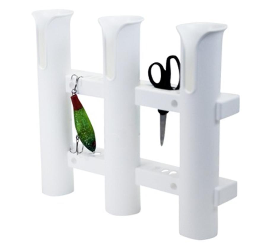 Tube Triple Rod Holder White