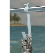 BoatMates Stora Rail Hook Vit