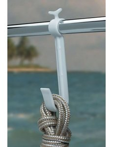 BoatMates Large Rail Hook White