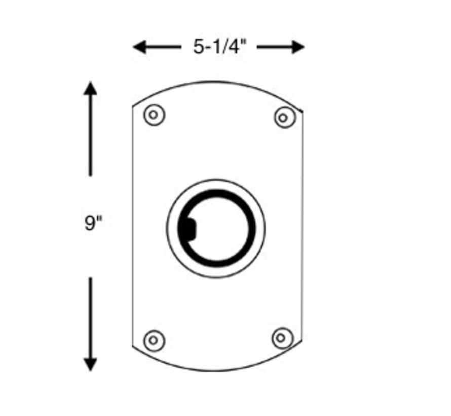 Plug In Double Flat Side Base, Satin Finish