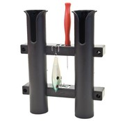 Fish-On! Tube Double Rod Holder Black
