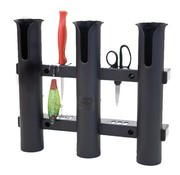Fish-On! Tube Triple Rod Holder Black