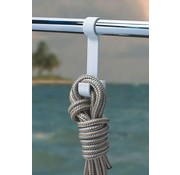 BoatMates Double Rail Hook White