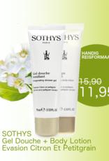 Sothys Sothys Duo : Lait Corps 75 ml + Gel Douche Gel Citron Petitgrain 75 ml