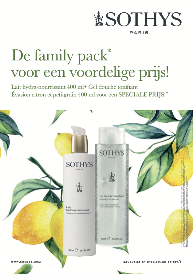 Sothys Sothys Duo : Body Lotion 400 ml + Shower Gel Citron Petitgrain 400 ml