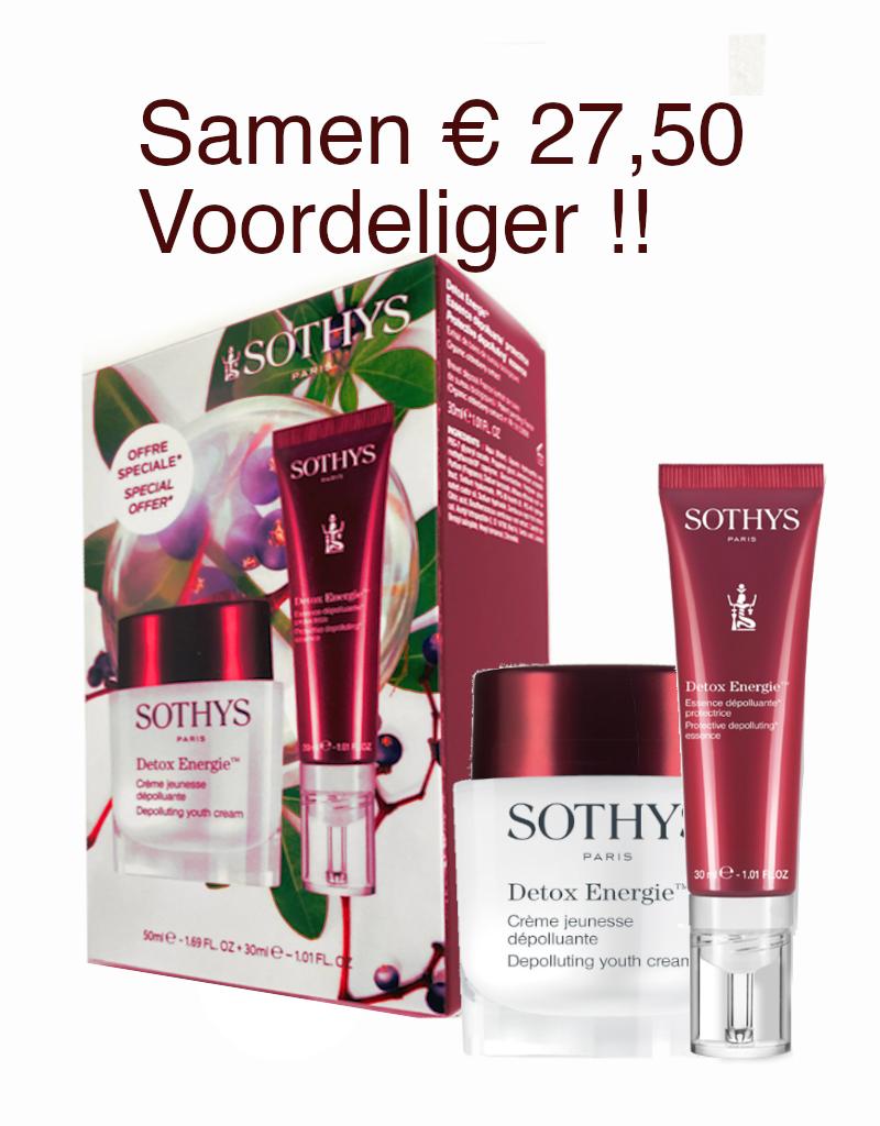 Sothys Sothys Coffret Duo Detox Energie Creme Jeunesse + Essence Dépolluante