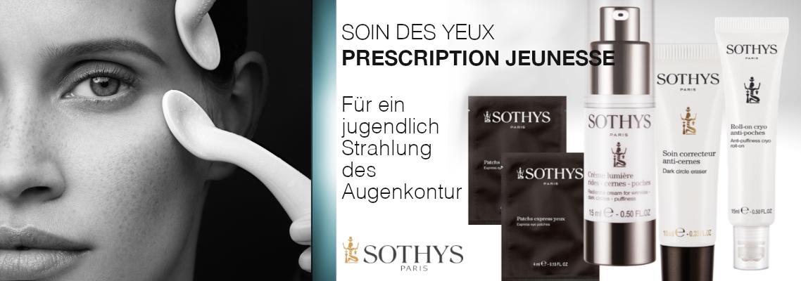 Augenpflege von Sothys: JEUNESSE PRESCRIPTION