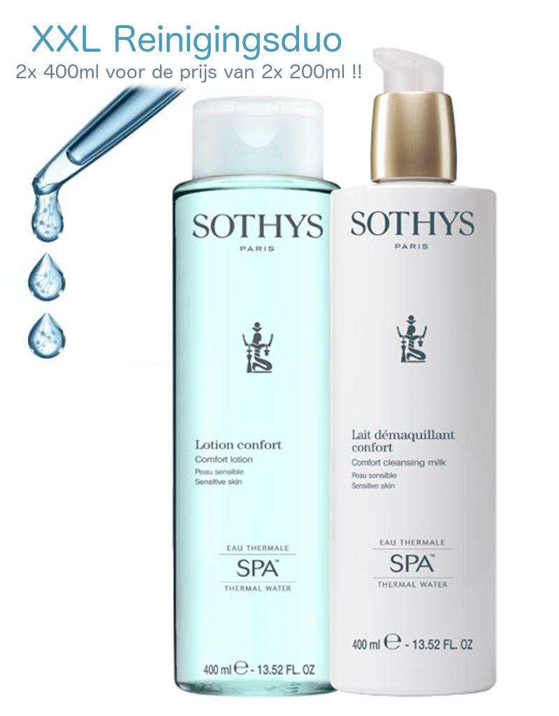 Sothys Sothys Promo Duo Reinigingsset Confort SPA 2x400 ml
