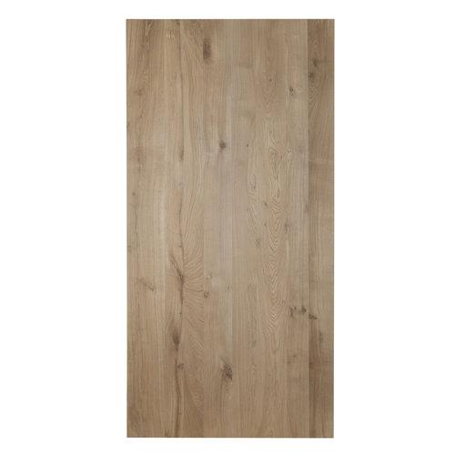 Eiken horeca tafelblad rechthoek met/zonder boomkant