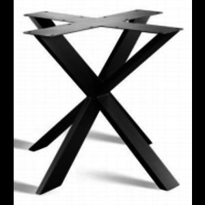 3D onderstel X - gecoat staal, antraciet, zwart