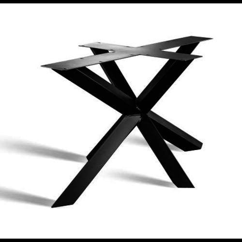 3D prisma onderstel rechte en ovale tafelbladen - gecoat staal, antraciet, zwart
