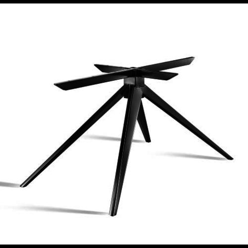 Taps toelopend 3D onderstel - gecoat staal, antraciet, zwart