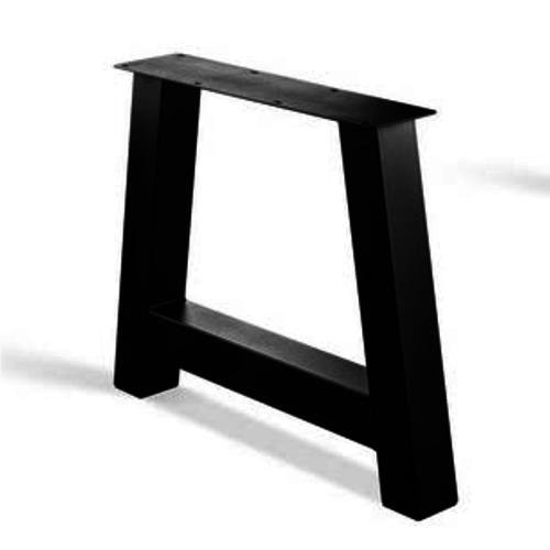 A-poot - gecoat staal, antraciet, zwart