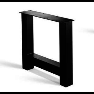 H-poot - gecoat staal, antraciet, zwart