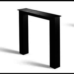 N-poot - gecoat staal, antraciet, zwart