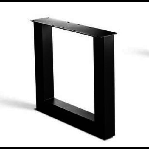 U-poot onderstel - gecoat staal, antraciet, zwart