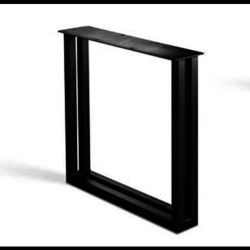 U-poot onderstel- gecoat staal, antraciet, zwart