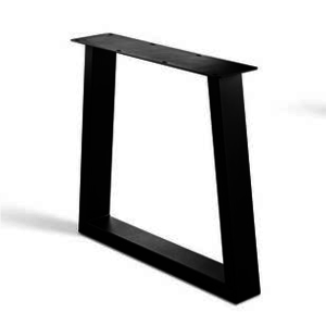 Trapeze poot - gecoat staal, antraciet, zwart
