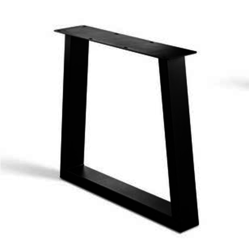 Trapeze poot onderstel - gecoat staal, antraciet, zwart
