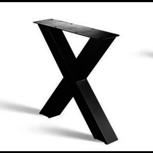 X-poot onderstel - gecoat staal, antraciet, zwart