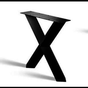 X-poot prisma - gecoat staal, antraciet, zwart